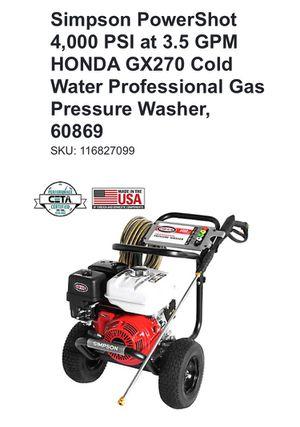 Pressure Washer-Simpson PowerShot 4,000 PSI for Sale in Lauderhill, FL