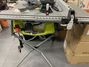 Ryobi 10 in. Table Saw with Rolling Stand and expanded capacity $195 for Sale in Corona, CA
