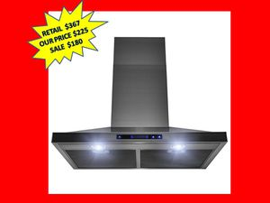 AKDY 30 in. Wall Mount Black Stainless Steel Kitchen Range Hood with Touch Panel BRAND NEW for Sale in Plantation, FL