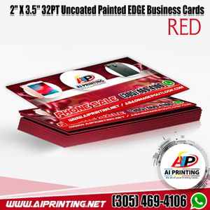 """Business Cards. 2"""" X 3.5"""" 32PT Uncoated Painted EDGE for Sale in Miami Gardens, FL"""
