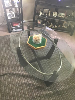 Glass coffee table and 2 in tables, custom made patriotic stars I paid Over 400 for just the stars so give me 100 for the stars and 75 for the tables for Sale in Fort Wayne, IN