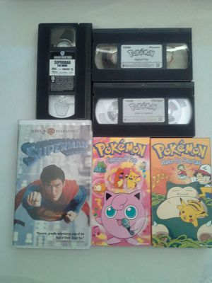 VHS Movies 90's Pokemon & 1978 Superman Good Condtion All For $15 for Sale in Reedley, CA