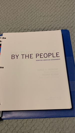 By The People by James A. Morone, Rogan Kersh Brief 4th Edition for Sale in Upland, CA