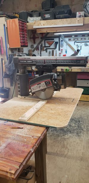 "Craftsman radial are saw 10"" with work table for Sale in Taylors, SC"