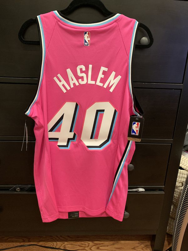 12fedc0b9 Udonis Haslem Miami Heat Nike Sunset Vice Pink Jersey for Sale in ...
