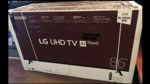 LG 86 inch 4K TV smart with Warranty for Sale in Pasadena, CA