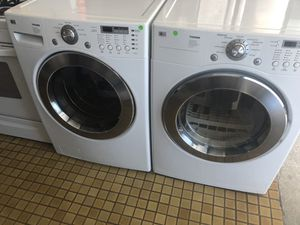 LG Tromm Washer and gas dryer front load for Sale in San Diego, CA