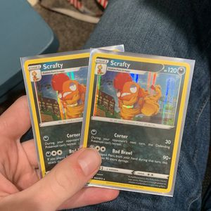 2 Scrafty Holo Pokemon Cards for Sale in West Hills, CA