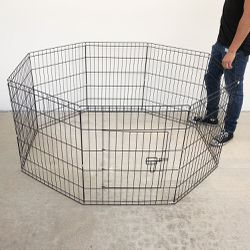 """$35 New In Box 8-Panel Dog Playpen, Each Panel 30"""" Tall X 24"""" Wide Metal Pet Gate Exercise Fence Crate Kennel for Sale in Pico Rivera,  CA"""