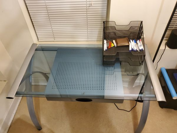 Desk table with glass top!