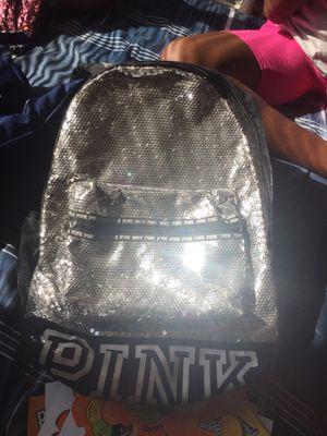 Victoria secret black & silver sequin backpack for Sale in Halethorpe, MD