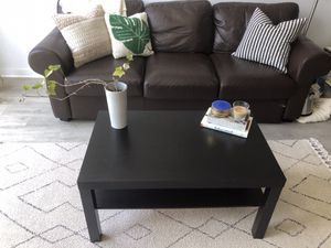 Black-brown IKEA Lack Coffee Table for Sale in Silver Spring, MD