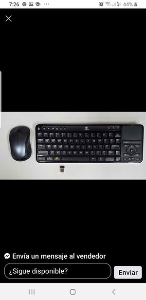 LOGITECH KEYBOARD AND MOUSE WIRELESS $20 for Sale in Hickory Creek, TX