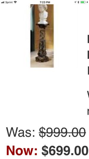 Sample advertising for the same marble pedestal .. almost with tax each one is $770 for Sale in Elmwood Park, IL