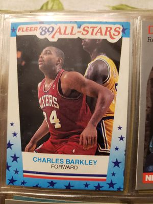 Young Charles Barkley (89) fleer basketball card for Sale in Ocean Pines, MD