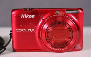 Nikon COOLPIX S6500 16.0MP 1080P WiFi Red Digital Camera for Sale in San Diego, CA