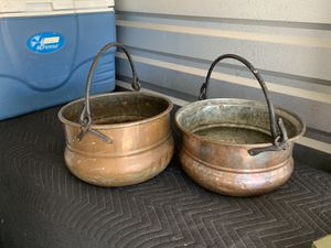 Antique English Copper Pots for Sale in Cibolo, TX
