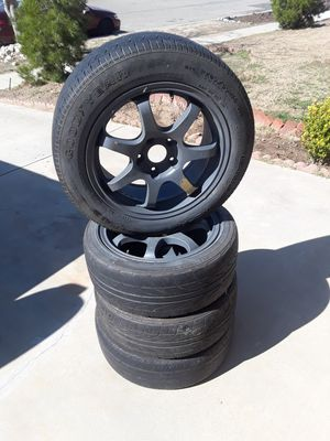 This plastic dip rims gold inside for Sale in Palmdale, CA