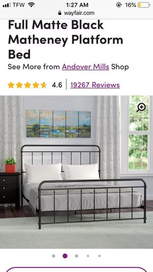 Full size metal bed frame for Sale in Lyman, SC