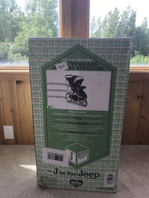 J for Jeep All Terrain Stroller-New for Sale in Columbus, MN