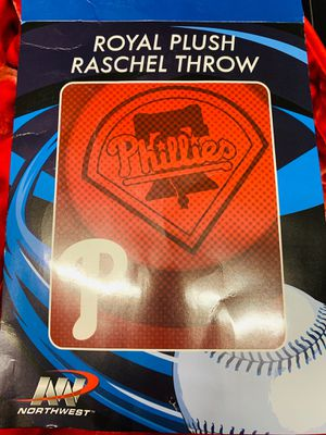 New Phillies red throw blanket 50 x 60 for Sale in Henderson, NV