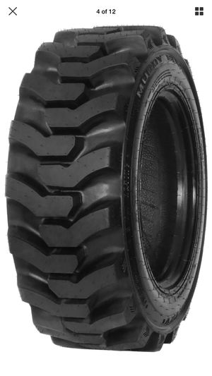 4x 10-16.5 (10X16.5) 10 ply E rate SKID STEER TIRES $420 no lowball cash for Sale in San Bernardino, CA