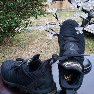 "Nike LeBron 16 XVI ""I'm King"" Black Metallic Gold Size 4.5Y BQ5969 007 100% Authentic for Sale in Everett, WA"