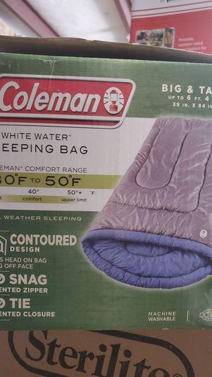 Brand new Coleman Whitewater sleeping bag big and tall for Sale in Riverside, CA