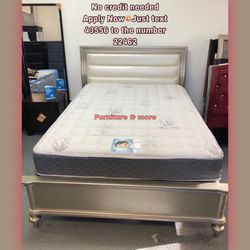 MATTRESS NOT INCLUDES 💥QUEEN SIZE BED FRAME NEW IN BOX READY FOR PICK UP OR DELIVERY AVAILABLE for Sale in Whittier,  CA