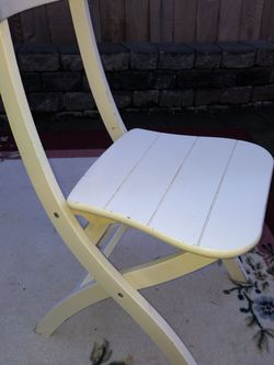 $12 Each Ikea Folding Wooden Chairs, FOUR standard Table Height for Sale in Brier,  WA
