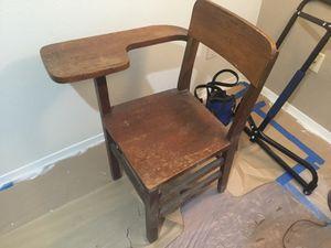 Old Oak school chair/desk for Sale in Kent, WA
