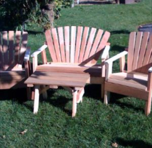 Redwood and Cedar chair set for Sale in San Diego, CA