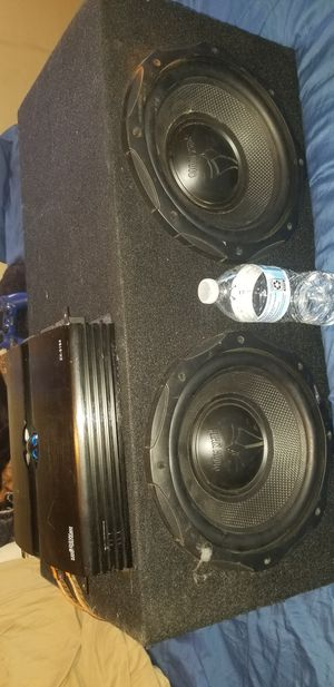 """10"""" inch subs with amp amd box for Sale in South El Monte, CA"""