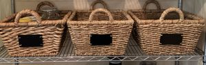 Market Baskets with Chalkboard Labels (3) for Sale in Potomac, MD