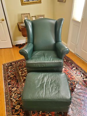 Wingback chair with ottoman for Sale in Clifton, VA