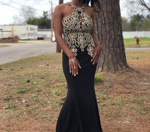 Gold & Black Prom Dress for Sale in Columbia, SC