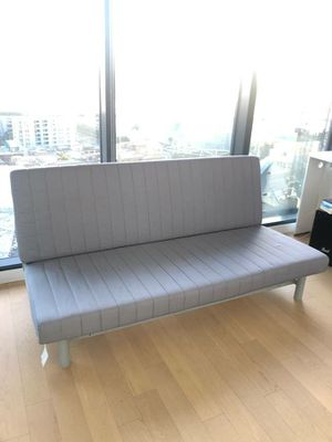 EXCELLENT CONDITION Ikea Convertible Futon Sofa Couch Twin To Full Sz Size Bedframe Bed Frame + UNDER Storage Drawer INCLUDED for Sale in Monterey Park, CA
