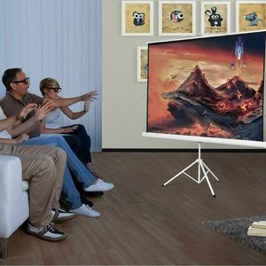 "100"" 70 X 70 Portable Square Tripod Screen Projection Projector HW44579 for Sale in San Gabriel, CA"