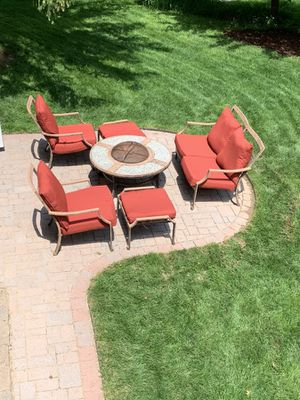Patio furniture with fire pit for Sale in Ashburn, VA