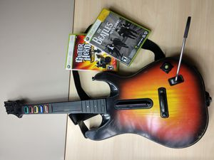 Guitar Hero World Tour Guitar and Two Games XBOX 360 for Sale in Colton, CA