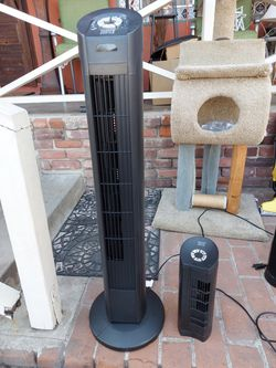 """Sunter 40"""" Tower Fan AND Small Desk Fan COMBO WITH REMOTE AND OSCILLATES for Sale in Lemon Grove,  CA"""