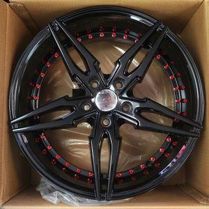 "Brand New 18"" SP46 5x114.3Black Red Rivet Wheels for Sale in Miami, FL"
