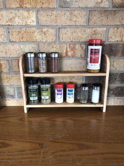 Decorative rustic wood shelf (spice, shot glass, essential oil, decoration) for Sale in Dallas,  TX