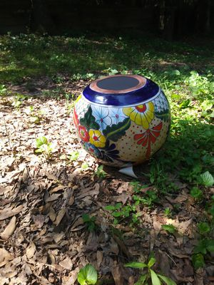 New painted clay landscape planting pot for Sale in Stone Mountain, GA