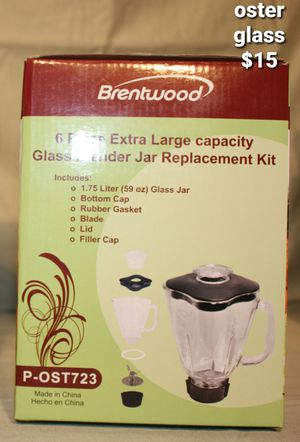 Brentwood oster Glass blender kit replacement for Sale in March Air Reserve Base, CA