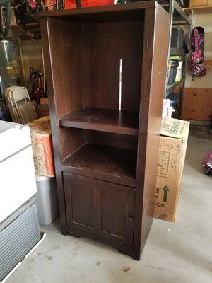 Dark Wood Media Cabinet / Bookshelf for Sale in Snohomish, WA