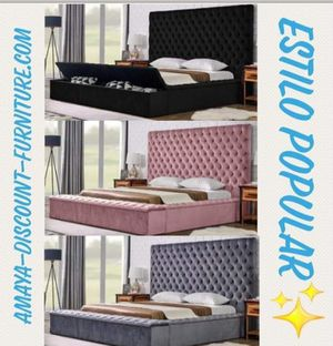 Queen bed frames with storage brand new starting at for Sale in Houston, TX