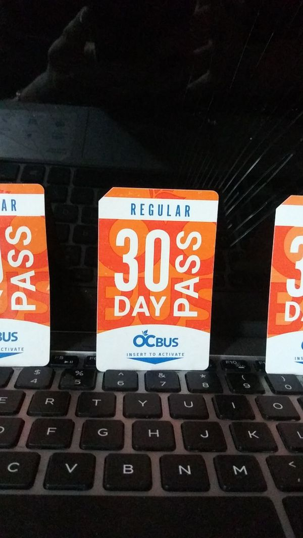 Bus passes for sale