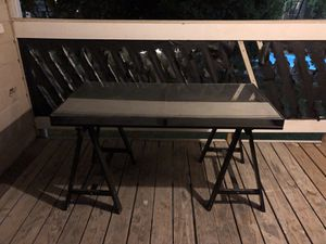 Glass desk/TV Stand for Sale in Austin, TX
