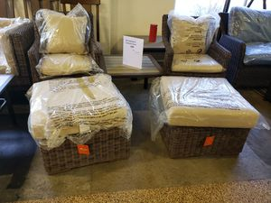 New 5pc outdoor patio furniture set sunbrella fabric tax included for Sale in Hayward, CA